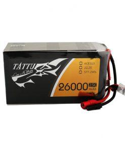 TATTU 26000mAh 22.2V 25C 6S1P Lipo Battery Pack - UAV Multirotor - RcHobby24.com
