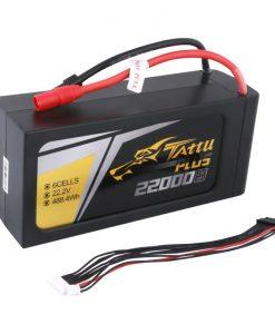 Tattu Plus 22000mAh 22.2V 25C 6S1P Lipo Batteri med Smart BatteriStyringSystemet (BMS) som gir lengre levetid - UAV & UAS Multirotor - www.RcHobby24.com