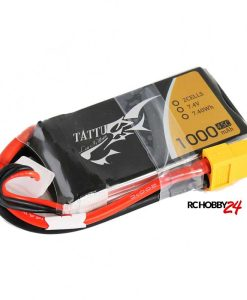 TATTU 1000mAh 7.4V 45C 2S1P Lipo Battery Pack - FPV Racing Multirotors, Helicopter, Airplane - XT60 - RcHobby24.com