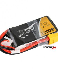 TATTU 1000mAh 11.1V 45C 3S1P Lipo Battery Pack - FPV Racing Multirotors, Helicopter, Airplane - XT60 - www.RcHobby24.com