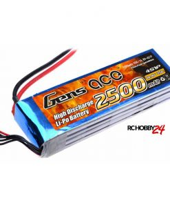 Gens ace 2500mAh 14.8V 25C 3S1P Lipo Battery Pack - Helicopter, Ducted Fan - www.RcHobby24.com
