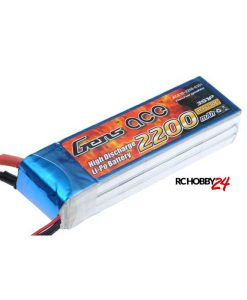 Gens ace 2200mAh 11.1V 30C 3S1P Lipo Batteri - DEAN-T Plugg Passer til modeller som: 450 Helicopter, Fun Cub, Fox Glider, Wild Hawk, P-51, Parkzone etc. - www.RcHobby24.com