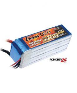 Gens ace 3700mAh 22.2V 35C 6S1P Lipo Batteri - Align Trex, Goblin, GAUI - www.RcHobby24.com