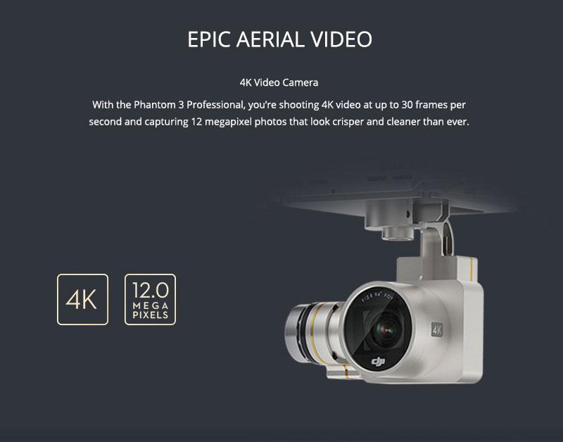 DJI Phantom 3 Professional 4K Video Camera - www.RcHobby24.com