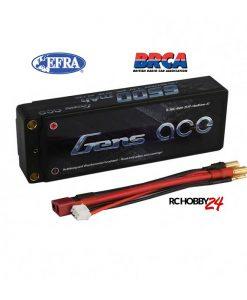 Gens ace 6500mAh 7.4V 50C 2S1P HardCase Lipo Battery 47# - DEAN-T - 1/8 & 1/10 RC Car Stock Racing - www.RcHobby24.com