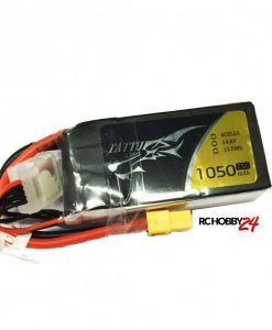Tattu 1050mAh 14.8V 75C 4S1P Lipo Battery Pack - FPV Racing Multirotors - XT60 - www.RcHobby24.com