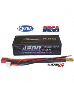 Gens ace 4200mAh 7.4V 60C 2S2P HardCase Lipo Battery 29# - DEAN-T - RC Car, RC Drifting Car 1/10 & 1/12 Racing, EFRA & BRCA Godkjent - www.RcHobby24.com