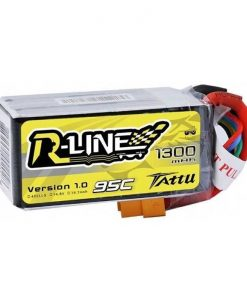 TATTU R-Line 1300mAh 14.8V 95C 4S1P Lipo Battery Pack - FPV Racing Competitions - XT60 - www.RcHobby24.com