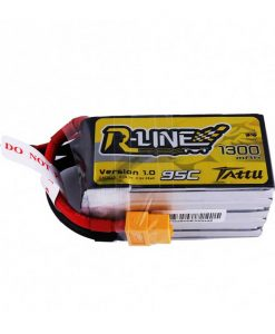 TATTU R-Line 1300mAh 18.5V 95C 5S1P Lipo Battery Pack - FPV Racing Competitions - XT60 - www.RcHobby24.com