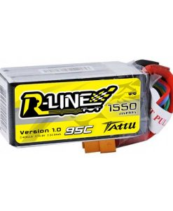 TATTU R-Line 1550mAh 14.8V 95C 4S1P Lipo Battery Pack - FPV Racing Competitions - XT60 - www.RcHobby24.com