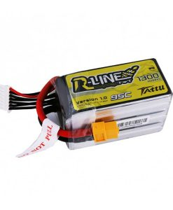 TATTU R-Line 1300mAh 22.2V 95C 6S1P Lipo Battery Pack - FPV Racing Competitions - XT60 - www.RcHobby24.com