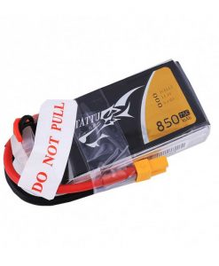 Tattu 850mAh 11.1V 75C 3S1P Lipo Battery Pack - FPV 150 og 180 Racing Multirotors - XT30 - www.RcHobby24.com