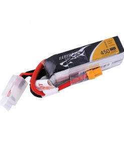 Tattu 450mAh 14.8V 75C 4S1P Lipo Battery Pack Multirotors - FPV Racing 100 - 150 Multirotors H Frame - XT30 - www.RcHobby24.com
