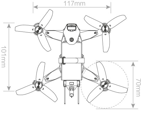 Walkera Rodeo 110 Racing Drone - Outline Top - www.RcHobby24.com