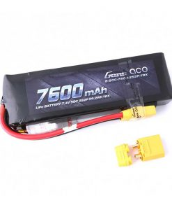 Gens ace 7600mAh 7.4V 50C 2S2P Lipo Battery Pack - TRAXXAS - XT90 Plugg - www.RcHobby24.com